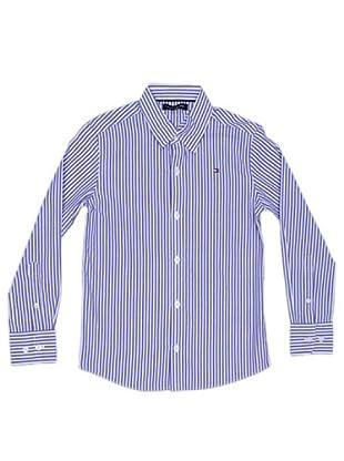 Tommy Hilfiger Camisa Rayas Bordado (morado)