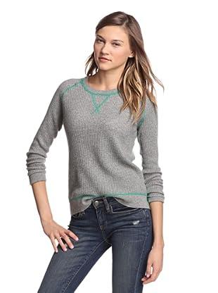 Kokun Women's Coverstitch Sweater (Grey/Clover)