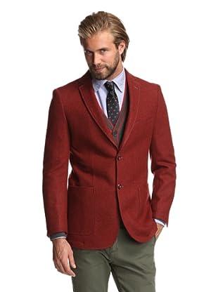 Renoir Men's Boucle Weave Sport Coat (Red)