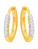 Gili 14k Yellow Gold and Diamond Stud Earrings