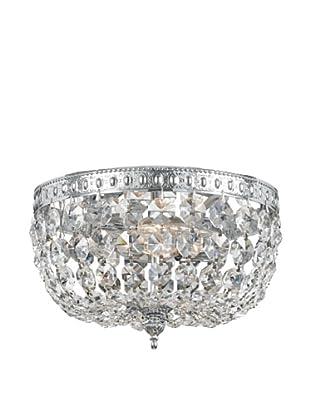 Gold Coast Lighting Richmond Collection Crystal Flush-Mount Chandelier (Polished Chrome)