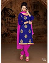 Attractive Designer Pink And Blue Salwar Suits FA218-1003