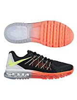 Nike Men's Air Max 2015 Black/Volt/White/Hot Lava Mesh Running Shoes 13 M US