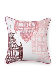 Room Service Moroccan Lanterns Pillow (Pinks/White)