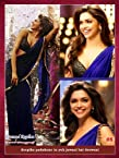 Deepika Bollywood Replica Blue Chiffon Saree