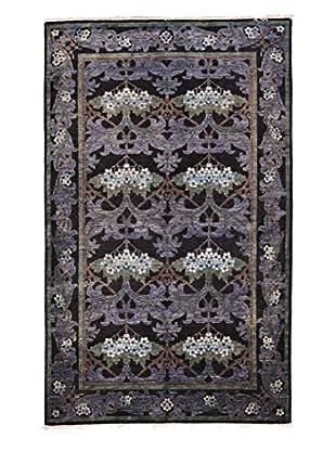 Darya Rugs Modern Oriental Rug, Purple, 4' 10