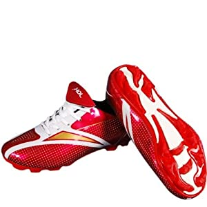 HDL Comfort Football Shoes, 11 Red-White