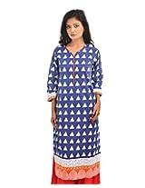 Fashiana Womens Cotton Self Print Straight Kurta (Fkrt034 _Multi-Coloured _42)