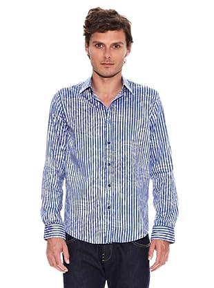 Desigual Camisa Bowie (Blanco / Azul)
