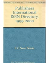 Publishers' International Isbn Directory 1999-2000