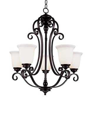 TransGlobe Garland II 5-Light Chandelier with Up-Lights, Oil-Rubbed Bronze