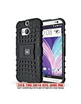 KAYSCASE ArmorBox Heavy Duty Cover Case for HTC One M8 (The All New HTC One M8) (Black)