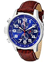 Invicta Men's Brown Leather Analogue Watch - 3328