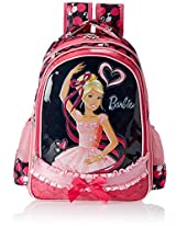 Barbie Pink and Black Children's Backpack (EI-MAT0017)