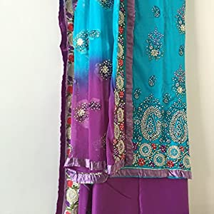 Fashioniista Punjabi Kudi Blue - Dress Material