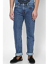 Indigo Regular Straight Fit Jeans (504)