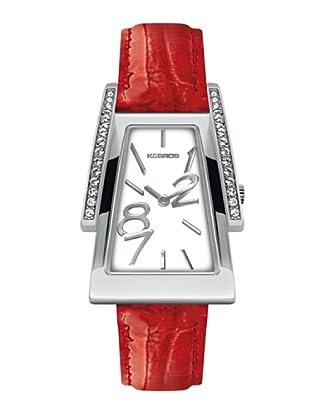 K&BROS 9155-3 / Reloj de Señora  con correa de piel rojo