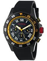red line Men's RL-60054 Chronograph Black Dial Black Textured Silicone Watch