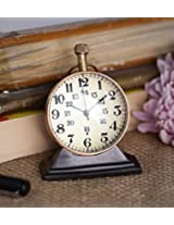 Style Antique Retro Vintage-Inspired World Globe Brass Metal Craft Table Clock Home Decor - 2.5 Inch