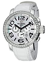 Men'S Mother Of Pearl Dial White Leather (Tw54)