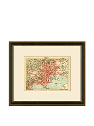 Antique Lithographic Map of Naples, 1894-1904
