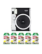 Fujifilm FU64-INSM9K050 Fujifilm INSTAX MINI 90 NEO CLASSIC Camera and Film Kit, 50 Exposures (Black/ Silver)