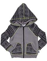 Splendid Little Boys' Fairisle Thermal Hood Zip-up - Shadow - 2T