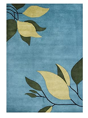 Horizon Rugs New Zealand Wool Rug (Blue/Vanilla/Green)