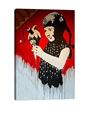 Banksy Girl With Dynamite Ice Cream Gallery Wrapped Canvas Print