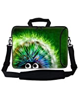 Meffort Inc 15 15.6 inch Neoprene Laptop Bag Sleeve with Extra Side Pocket Soft Carrying Handle & Removable Shoulder Strap for 14 to 15.6 Size Notebook Computer - Cute Porcupine Design
