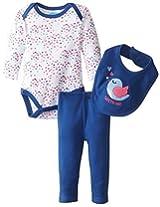Bon Bebe Baby Girls Newborn Tweet Heart Bodysuit Bib And Legging Pant By Bon Bebe