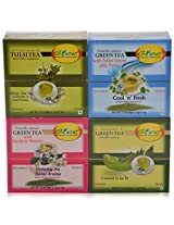 GTEE Tulsi Tea Bags & Green Tea Bags - Regular & Green Tea Bags-Mint & Green Tea Bags-Jasmine (10 Tea Bags X 4 PACKS)