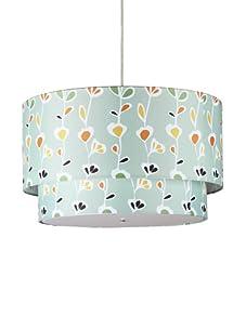Inhabit Floral Hudson Double Pendant Lamp (Light Sage)