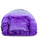 White Swan Mauve Velvet Mattress With Mosquito Net & Pillow ( Age Group: 0-2 Years )