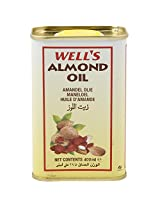 Well's Almond Oil 400ml - Pack of 1, 400mL