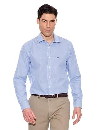 Pedro del Hierro Gestreiftes Hemd (Blau)