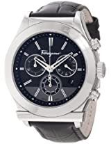 "Salvatore Ferragamo Men's F78LCQ9909 SB09 ""Salvatore Ferragamo 1898"" Stainless Steel Watch with Leather Band"