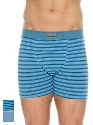 Ocean Pack x 2 Boxers Cerrado (Azul)