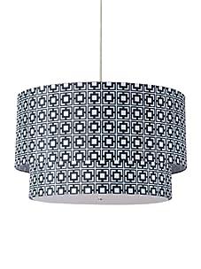 Inhabit Hudson Double Pendant Lamp (Black/White)