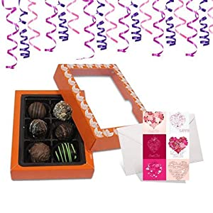 6pc Exceptional Combination of Tempting Truffles with Card- Chocholik Belgium Chocolates