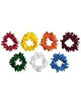 DollsofIndia Set of Seven Small Cloth Garland for Decorating Hair - Cloth - Multicolor