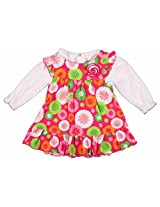 Carters Floral Print Frock With Tee - Multi Coloured (3 - 9 Months)