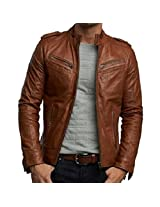 Zayn Leather Men's Leather Jacket (473_WLJ_Brown_X-Small)