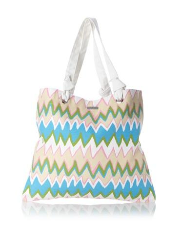Julie Brown Reversible Shopper Tote (Pink Charlie/Polka Dot)