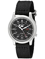 Seiko Men's SNK809 Seiko 5 Automatic Watch with Black Canvas Strap