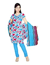 Sonal Trendz Women Polyester Dress Material (Stson100391 _Blue _Free Size)