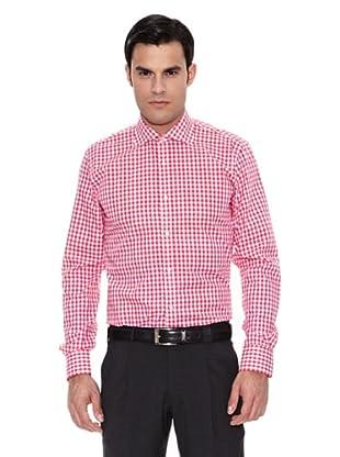 Pedro del Hierro Camisa Moda Vestir Thomas Mason Vichy (Rojo)
