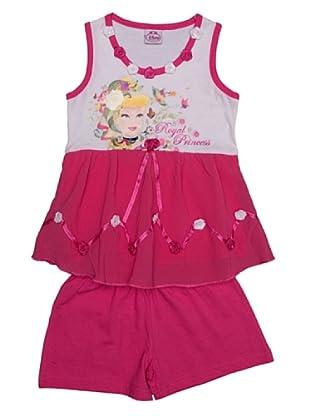 Disney Pijama Niña Princess Tirantes (Rosa)