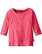 Tommy Girl Big Girls' All Over Jewel Crew Neck