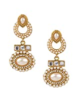 Ethnic Indian Bollywood Jewelry Set Traditional Fashion Pearl EarringsISREA033WH